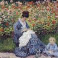 06-庭のカミーユ・モネと子供